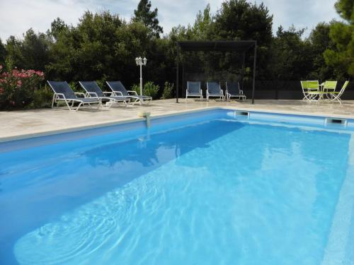 The swimming pool at or near Modern Villa with Private Pool in Aups France