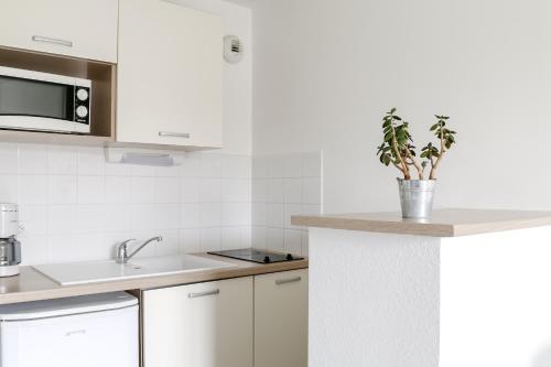A kitchen or kitchenette at Adonis Hauts De Honfleur