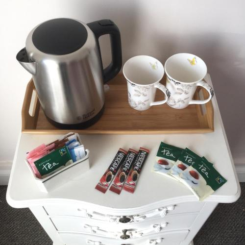 Coffee and tea-making facilities at Clare House