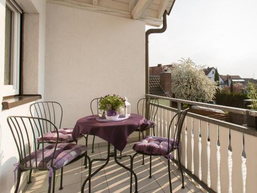 Ein Balkon oder eine Terrasse in der Unterkunft Ruster Drachennest
