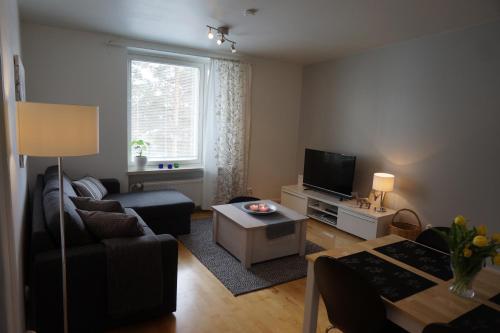 A seating area at Ounasvaara Arctic Suite