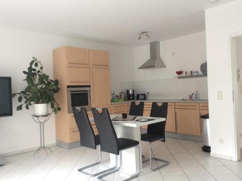 Küche/Küchenzeile in der Unterkunft Apartment Schlossblick