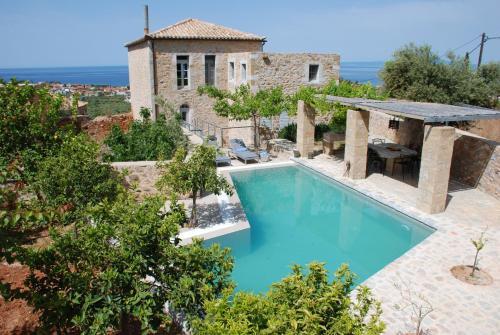 Het zwembad bij of vlak bij Casa Antica