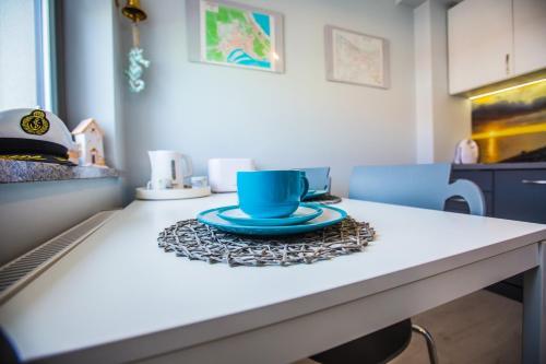 Kuchnia lub aneks kuchenny w obiekcie Apartament Kompas