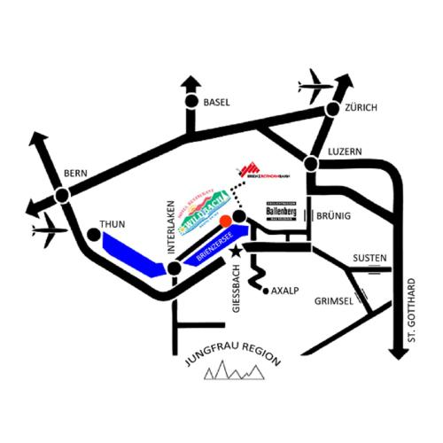 Grundriss der Unterkunft Hotel Wildbach