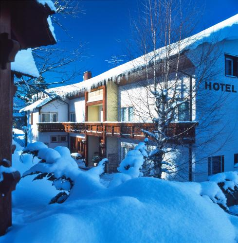 Hotel Waldeck during the winter
