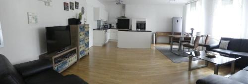 Ein Sitzbereich in der Unterkunft Ferien Wohnung Soldic