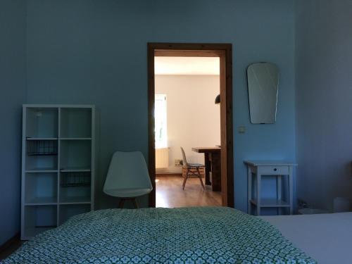 Ein Bett oder Betten in einem Zimmer der Unterkunft Ferienhaus LOOP IN
