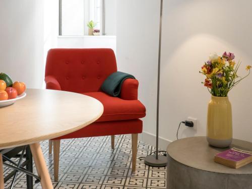 Zona de estar de Lisbon Serviced Apartments - Castelo S. Jorge