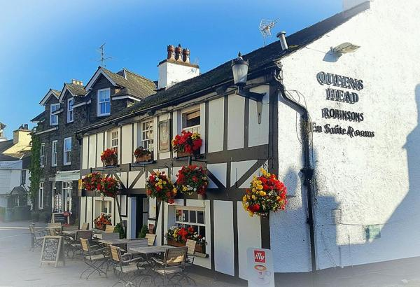 Queens Head Inn & Restaurant in Hawkshead, Cumbria, England