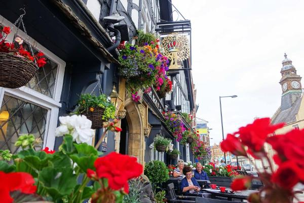 The Royal Oak in Evesham, Worcestershire, England
