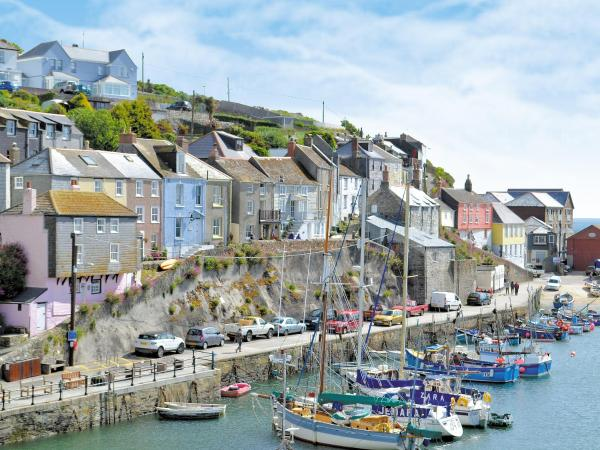 Blue Harbour in Mevagissey, Cornwall, England