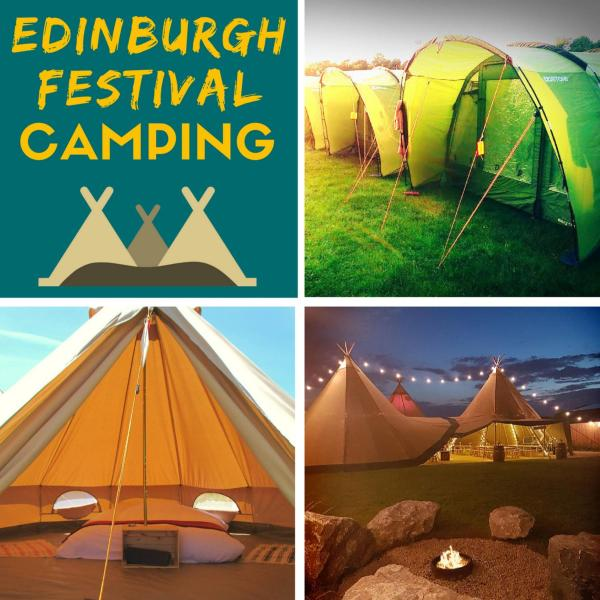 Edinburgh Festival Camping in Ingliston, Midlothian, Scotland