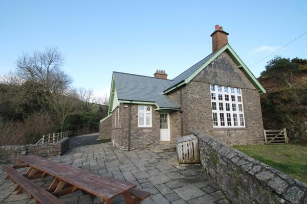 The School House in Lynton, Devon, England