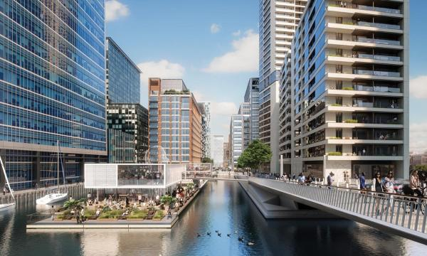 Canary Wharf Waterfront Apartments in London, Greater London, England