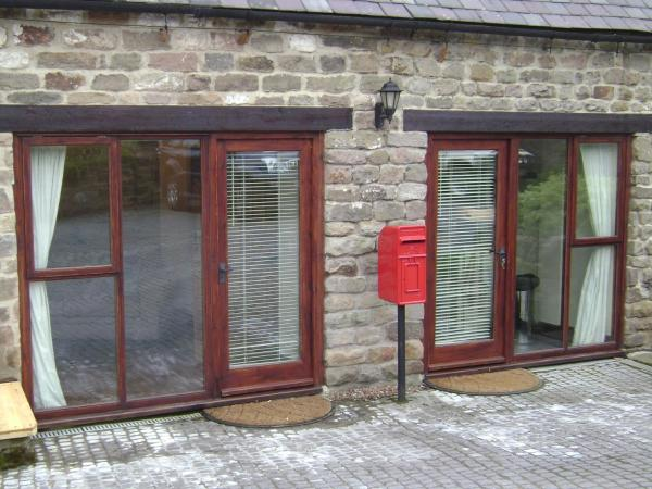 Pillarbox Cottage in Matlock, Derbyshire, England