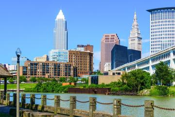 Cleveland: Hent leiebil på et av 12 steder