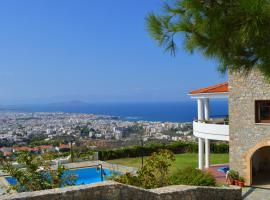 VILLA MARE MONTE-CH, amazing view-shared pool, hotel with pools in Chania Town