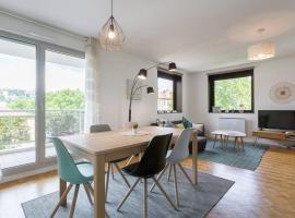 Appartement Lyon Centre Confluence 100 m2 Parking Terrasses, hôtel à Lyon près de: Gare de Lyon-Perrache