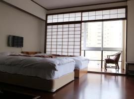 Izu 4 sea ocean reinforced con Double bed + single bed 2 sea view (room
