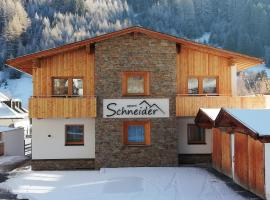 Apart Schneider, pet-friendly hotel in Ischgl