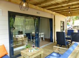 Estivo Premium mobile homes on Camping Ca Savio