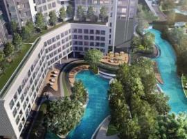 ideo o2曼谷bangna区三万平森林轻氧公寓三个超大网红打卡泳池两个健身房足球场绿道都在小区内