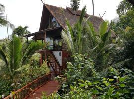 Thai style villa with private beach access