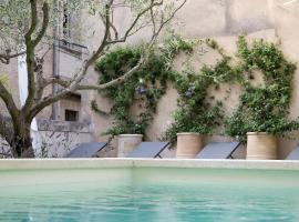 Les Terrasses, hotel with pools in Uzès