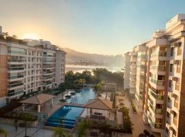 Barra da Tijuca, apto 3 quartos, hôtel avec jacuzzi à Rio de Janeiro
