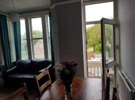 large first floor balcony flat next to beach