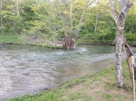 Creek Haven Island campsite