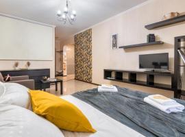 One Bedroom Apartment Bright-Двухкомнатная квартира у Газпром Арены, RentHouse