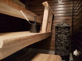 Huippusijainti keskustassa+rinteet vieressä, sauna