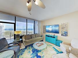 Sophisticated Gulf-View Condo w/ Balconies & Pool condo