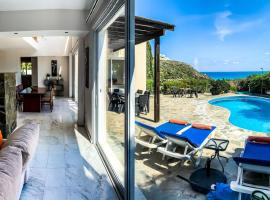 3 bedroom villa , with fantastic sea view, landscaped garden. Free Wi-fi