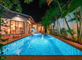 404#Adi lucky villa,jomtien beach 500M,private pool,BBQ