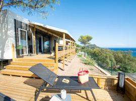 2 Mobile Homes INCROYABLE VUE MER, AGAY, campground in Drammont