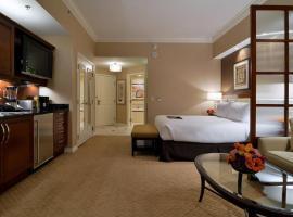 Junior suite 18th floor at The Signature MGM, hotel near Bellagio Fountains, Las Vegas