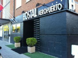 Hostal Aeropuerto, hotel cerca de Wanda Metropolitano, Madrid
