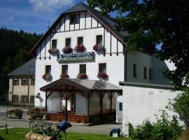 Pension und Gaststätte Schlösselmühle, Hotel in der Nähe von: Bärenstein Ski Lift, Jöhstadt