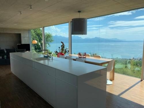 Luxury 4BD villa with amazing views over Lake Geneva