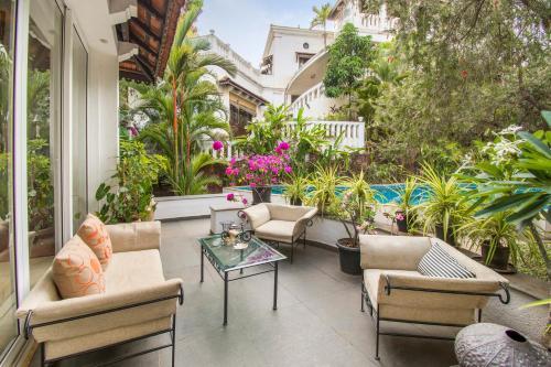 4-BR villa with pool, near Candolim Beach