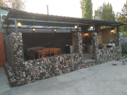 Cozy guesthouse with gabion