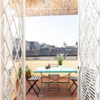White terrace apartment navona