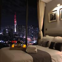 Romantic Night View from Private Bar | 2BR | Downtown