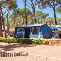 Kingsize Bungalowtent Camping Castell Montgri