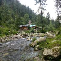 Cottage along with river Lato the hut