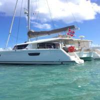 Saba 50 crewed catamaran