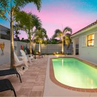 Charming Heated Pool Home - 3 miles to the Beach, Pet and Family Friendly -Available Year Round!